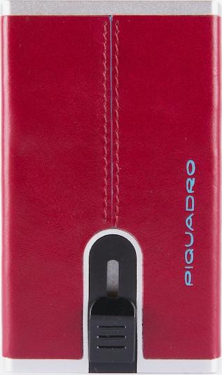 Piquadro Kreditkartenetui 'Blue Square' in rot / silber, Produktansicht