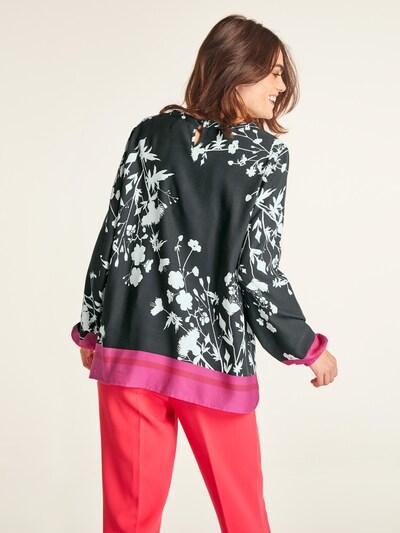 Bluză heine pe roz închis / negru / alb: Privire spate
