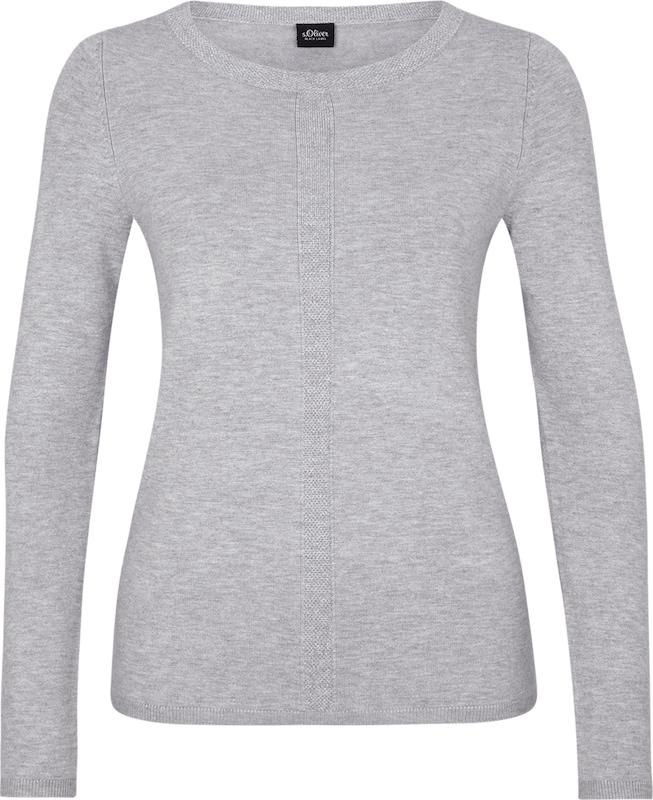 S oliver Black Label Silber Grau Jersey pullover Melierter xqAgqnr8wf