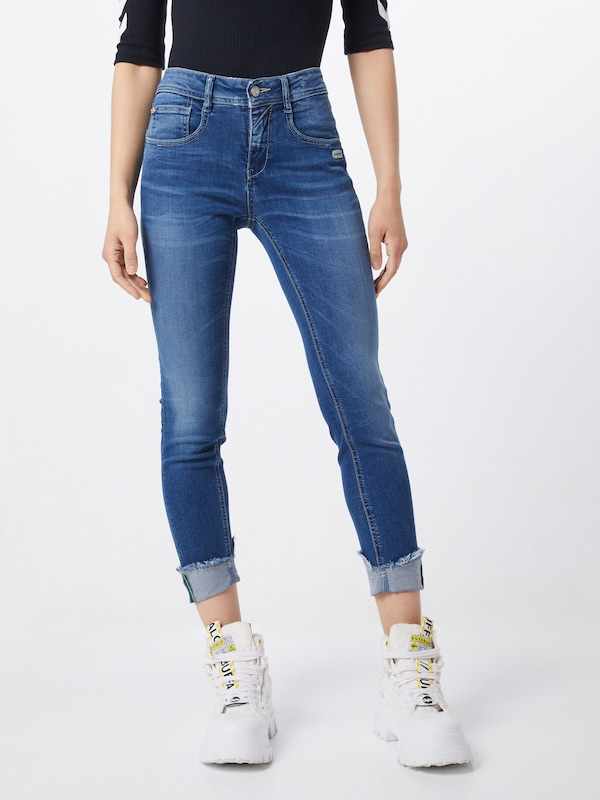 Gang Jeans 'AMELIE' in blue denim, Modelansicht