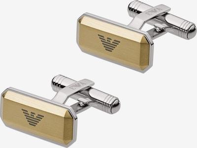 Emporio Armani Manschettenknöpfe in goldgelb / silber, Produktansicht