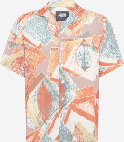 Denim Project Overhemd 'LUNGO' in de kleur Gemengde kleuren / Sinaasappel, Productweergave