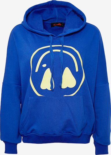 miss goodlife Hoodie 'Heartface' in blau, Produktansicht