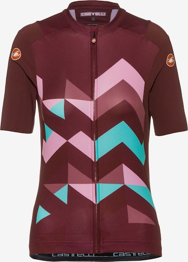 CASTELLI Trikot 'Unlimited' in mint / rosa / rotviolett, Produktansicht