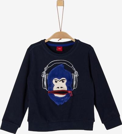 s.Oliver Junior Sweatshirt in dunkelblau / rot / weiß, Produktansicht