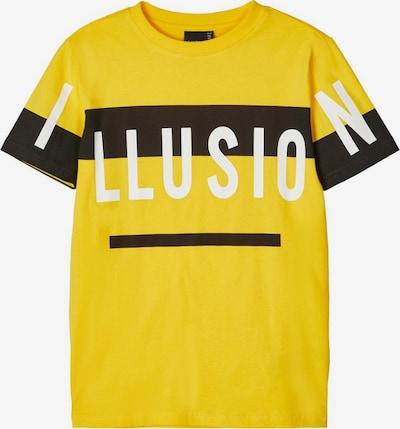 NAME IT T-Shirt in gelb / schwarz / weiß: Frontalansicht