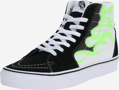 VANS Sneaker in limette / schwarz / weiß: Frontalansicht