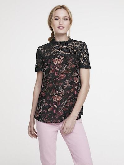 Bluză heine pe bej / roșu sânge / negru, Vizualizare model