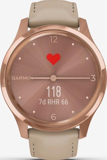 GARMIN Uhr 'vívomove Luxe' in dunkelbeige / rosegold / rosa, Produktansicht