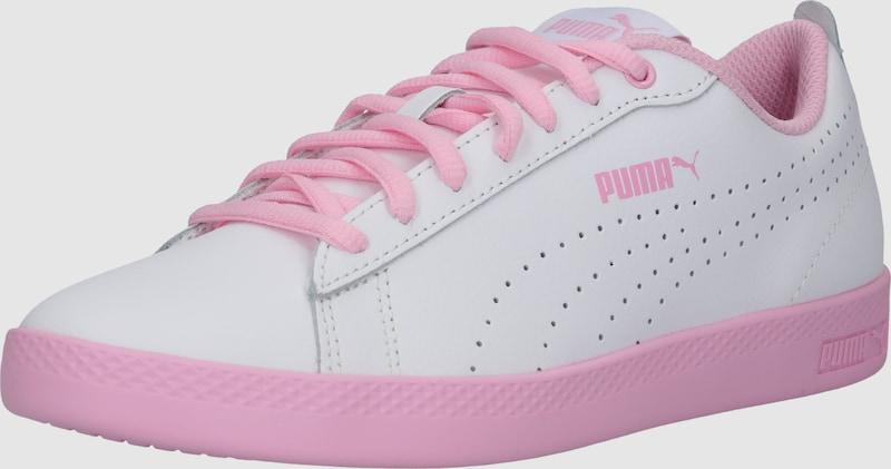 560771431122 PUMA Rövid szárú edzőcipők 'Smash Wns v2 L Perf' rózsaszín / fehér színben  | ABOUT YOU