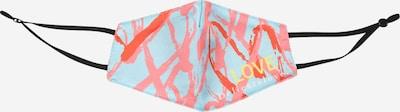 DELICATELOVE Stoffen mondkapje 'LOVE' in de kleur Blauw / Koraal, Productweergave
