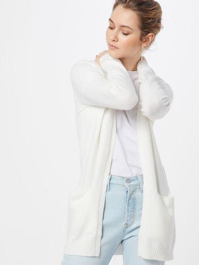 VILA Gebreid vest 'Ril' in de kleur Wit: Vooraanzicht