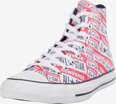 CONVERSE Baskets hautes 'Chuck Taylor All Star Hi' en bleu nuit / rouge / blanc, Vue avec produit