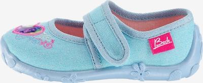 BECK Kapcie 'Einhorn' w kolorze jasnoniebieski / szary / różowym, Podgląd produktu