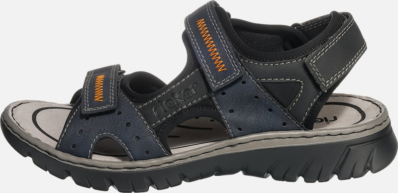 RIEKER Trekking Sandale mit Klettverschluss