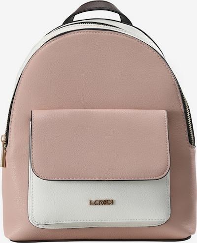L.CREDI Cityrucksack 'Edlyn' in rosa / weiß, Produktansicht