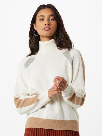 DELICATELOVE Pullover 'Bini' in hellbraun / hellgrau / offwhite, Modelansicht