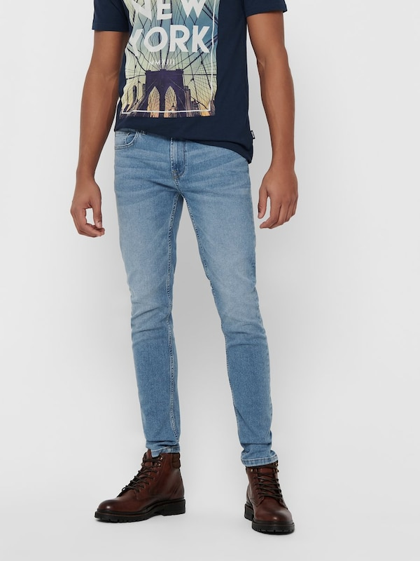 Only & Sons Jeans in blau, Modelansicht