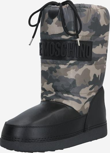 Love Moschino Ski Boots in khaki / rot / schwarz, Produktansicht