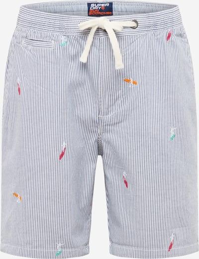 Chino stiliaus kelnės iš Superdry , spalva - tamsiai mėlyna / balta, Prekių apžvalga
