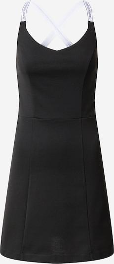 Calvin Klein Jeans Jurk 'Milano' in de kleur Zwart / Wit: Vooraanzicht