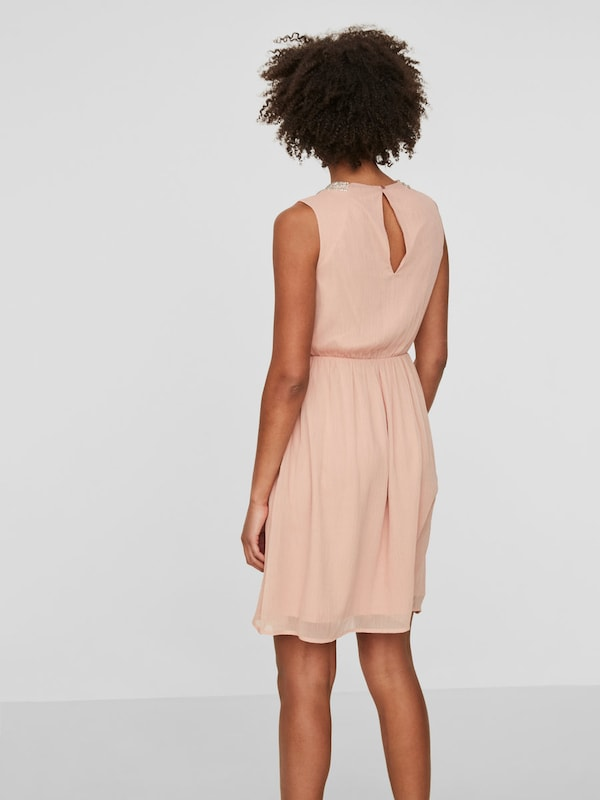VERO MODA Perlenverziertes Kleid ohne Ärmel