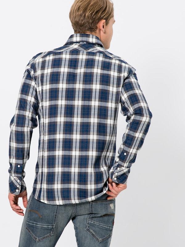 Slim s' Chemise Shirt En Indigo G L '3301 Raw star 7vbyYgf6