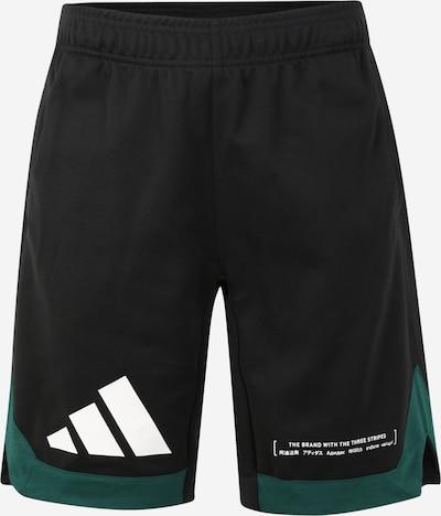 ADIDAS PERFORMANCE Sporthose in grün / schwarz / weiß, Produktansicht