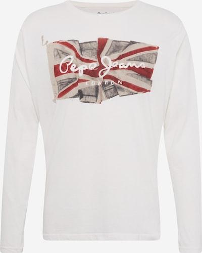 Pepe Jeans T-Shirt 'FLAG LOGO' en bleu / rouge / blanc cassé, Vue avec produit