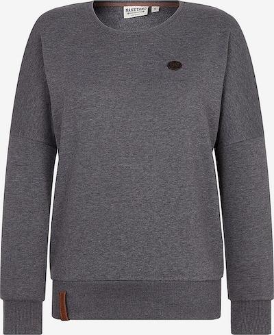 naketano Sweat-shirt '2 Stunden Sikis Sport' en gris foncé, Vue avec produit