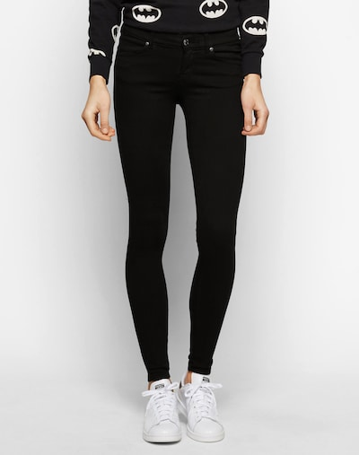 Dr. Denim 'Dixy' Skinny Jeans in schwarz: Frontalansicht