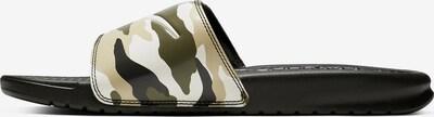 NIKE Badeschuhe 'Benassi JDI Print' in beige / oliv / schwarz, Produktansicht