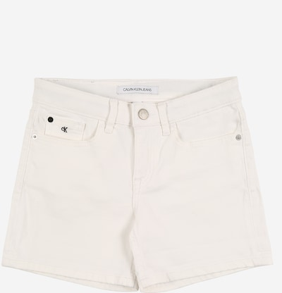 Calvin Klein Jeans Shorts in white denim, Produktansicht