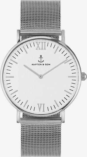 Kapten & Son Montre à affichage analogique 'Campina Mesh' en argent / blanc, Vue avec produit