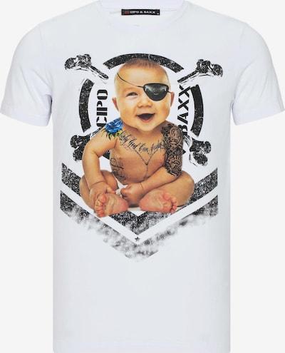 CIPO & BAXX T-Shirt mit extravagantem Print in weiß, Produktansicht