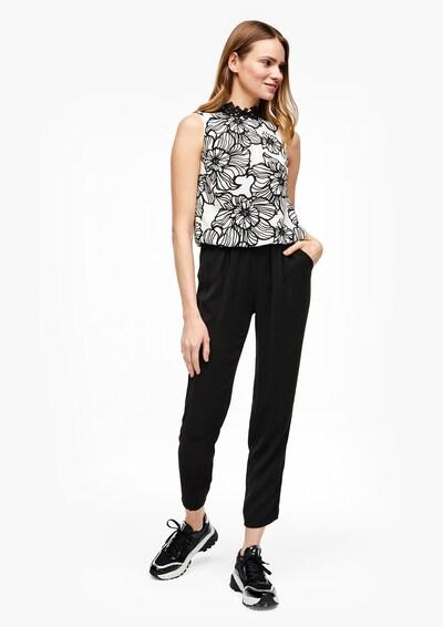 s.Oliver BLACK LABEL Jumpsuit in schwarz / weiß, Modelansicht