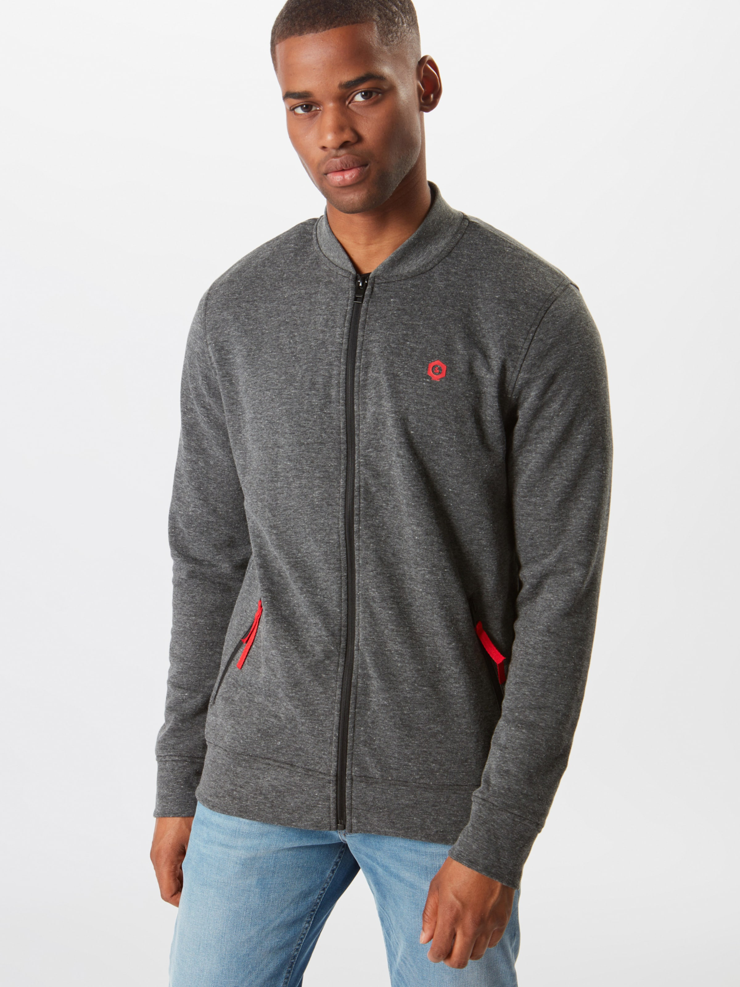 Dunkelgrau Pack' Mix Jones Zip In 'mart Jackamp; Sweatjacke Sweat CerBQdxoW