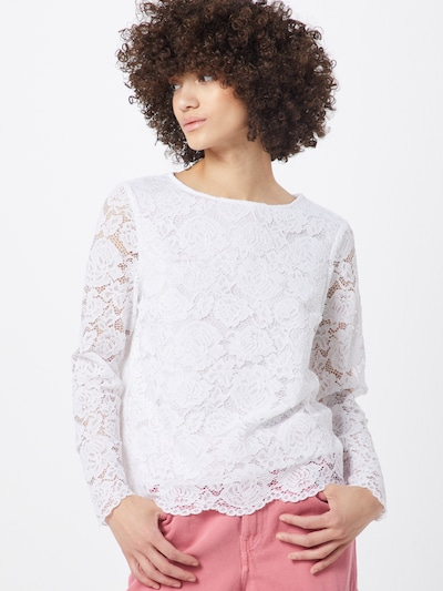 Banana Republic Blusenshirt 'J CO LS OCCASION LACE TOP MATCHBACK' in weiß, Modelansicht