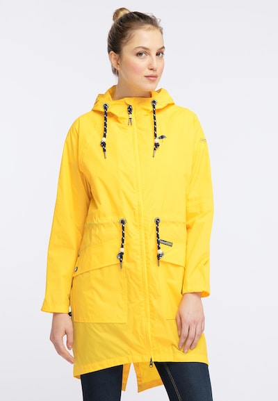 Schmuddelwedda Parka in gelb, Modelansicht