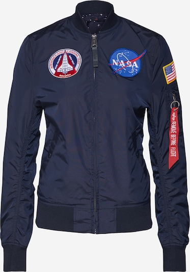 ALPHA INDUSTRIES Chaqueta de entretiempo 'MA-1 TT NASA Revers' en navy, Vista del producto