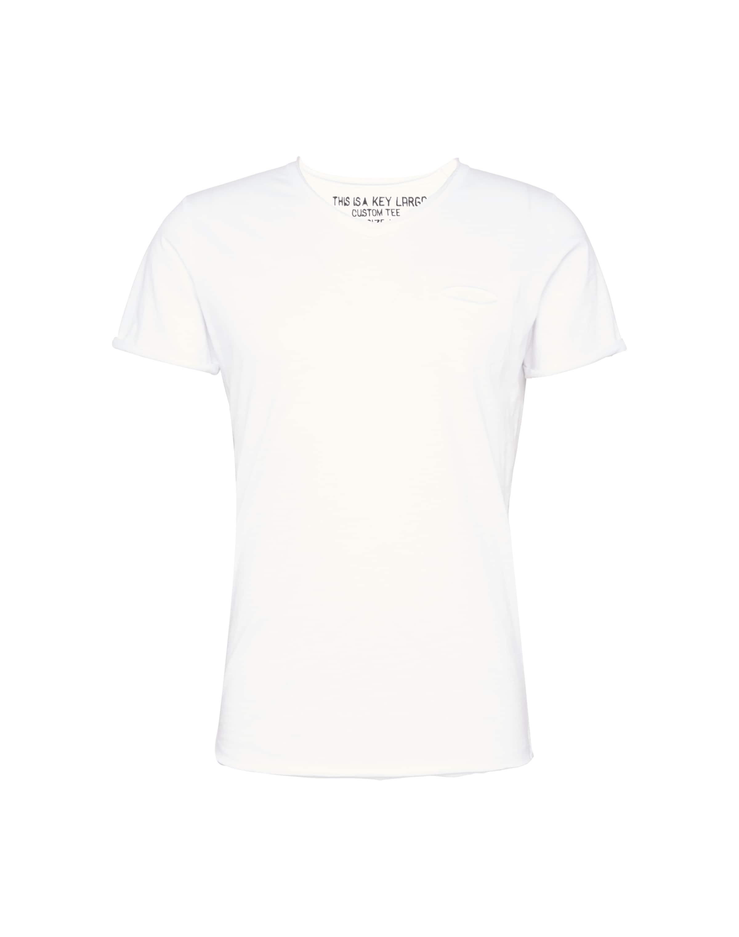 ausschnitt Largo In T Key shirt Weiß Mit V Nm8nOv0w