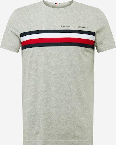 TOMMY HILFIGER Shirt 'GLOBAL STRIPE TEE' in navy / grau / rot / weiß, Produktansicht