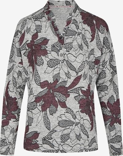 Heimatliebe Pullover in graumeliert / weinrot / schwarz, Produktansicht
