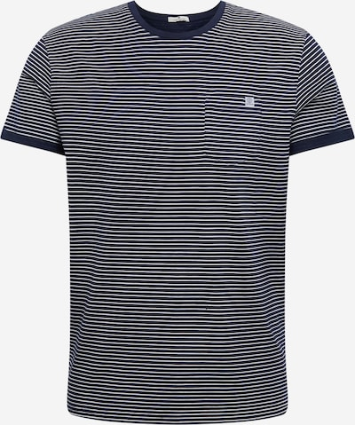 TOM TAILOR Majica | marine / bela barva, Prikaz izdelka