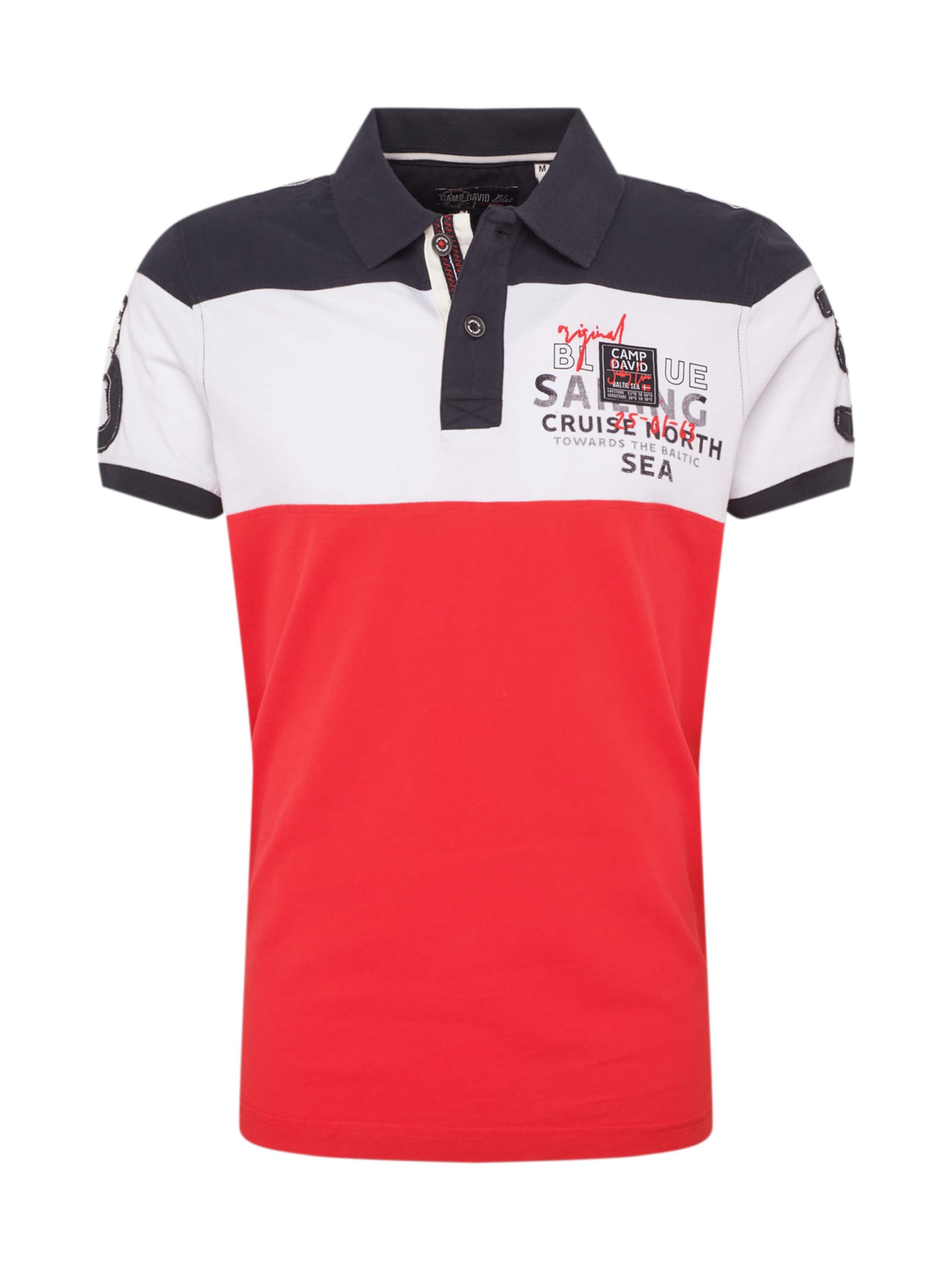 Bleu Blanc Camp David En T shirt MarineRouge xodBrCeW