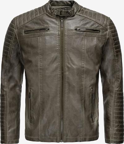 Redbridge Bikerjacke mit rockiger Steppung in grau, Produktansicht