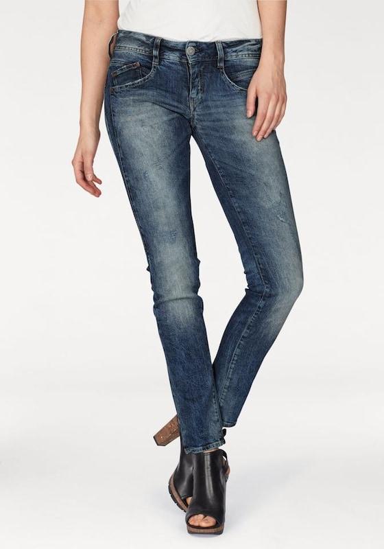 Herrlicher 'Gila' Skinny Jeans mit Used Effekte