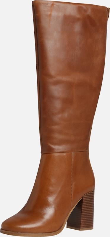 ABOUT YOU Stiefel 'Meryem' in cognac: Frontalansicht