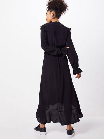 PIECES Sukienka 'PCLISA LS MIDI DRESS D2D' w kolorze czarnym: Widok od tyłu