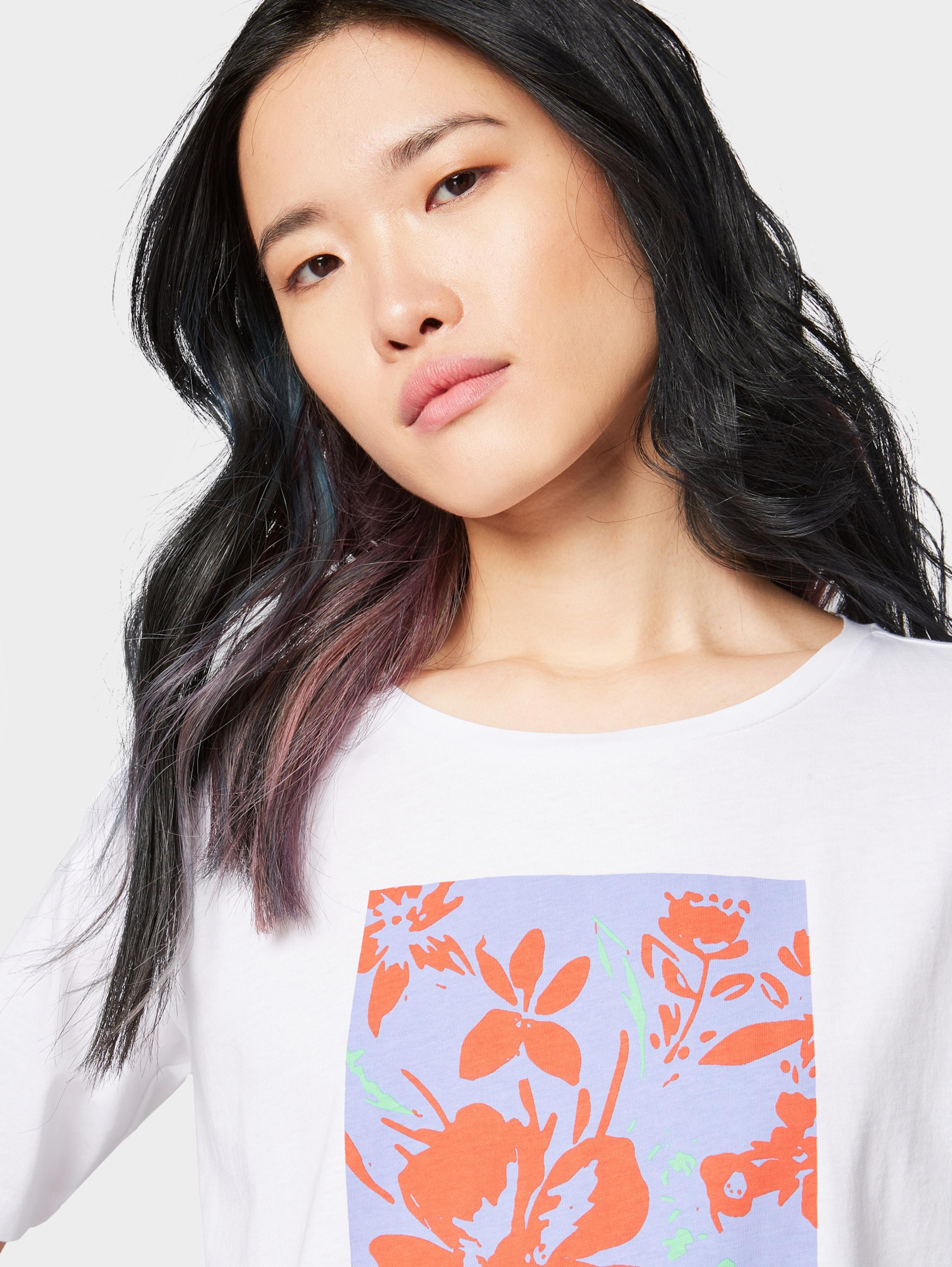 Tailor Weiß In T Denim shirt BlauLimette Orangerot Tom yYbg7vIf6